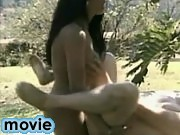 Sunburnt strapper tranny deeply drills guy outdoor