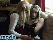 Tgrl slut Candi sucks on a horny crossdressers cock